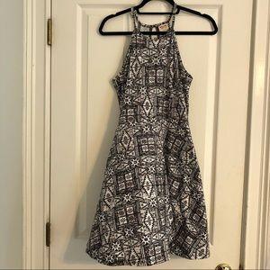 Mossimo (Target) Black&White Halter Dress
